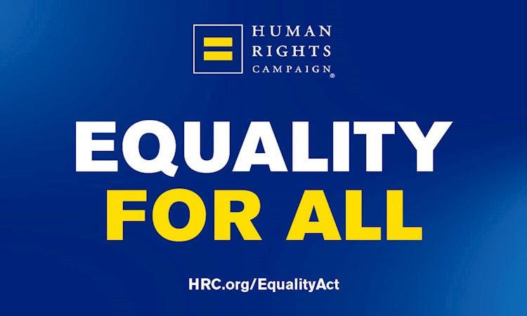 "Graphic with headline ""Equality for all"""