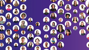WPP Annual Report 2020 cover image with WPP people's faces in circles