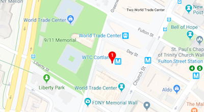 Google map of Three World Trade Center