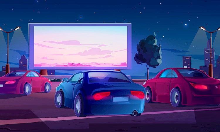 Drive-in illustration